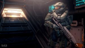 Halo 4 | Master Chief with Asault Rifle by Goyo-Noble-141