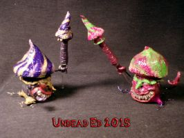 Mushroom Man Holder and Mushroom Dabber Sets By Un by Undead-Art