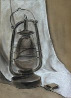 Still life with kerosene lamp by Cunami-in-october