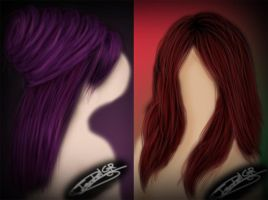 Paintend Hair 1 by LadyPingu