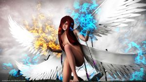 Vivid Flame Angel by covenan