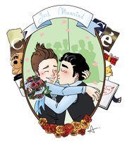 Klaine - Just married by Sunshunes