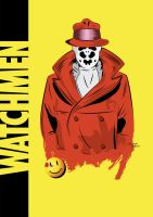 Watchmen - Rorschach Vector by funky23