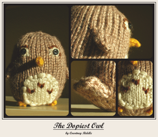 knit animals - owl by GRAMMAR