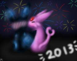 PKMN New Year Kiss-2013 by Shinkou-san