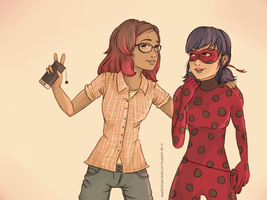 Ladyblogger + Her Muse ! by influence-of-freedom