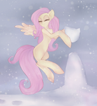 Winter Fluttershy by pimpeta
