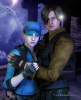 don't worry I'm here..( Leon and Jill) by kingofshadows26