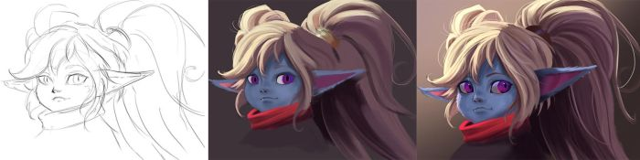 League Of Legend      Poppy     step by step by Pandhes