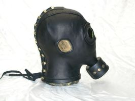 Gasmask side view by GriffinLeather