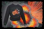 OVERLOAD !  embroidery on black adult sweatshirt by FancyTogs