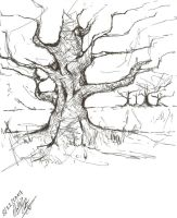 Tree with a pen by PhillipTobin