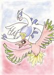 ho-oh and Lugia by beckyboc