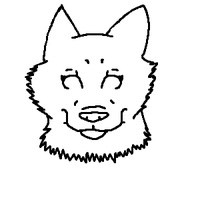 Lineart-headshot Mspaint by groverismypuppy