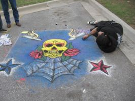 Chalk art by DarkSaiyanNinja
