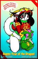 Puff the Chinese Dragon by o-kemono