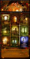 Spring Magic backgrounds by moonchild-ljilja