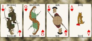 School Group III cards - Hearts by Squirrel-slayer