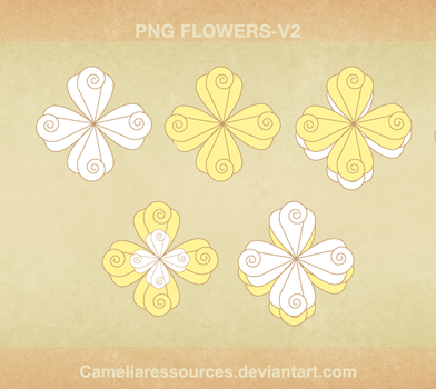 Png Flowers v2 by cameliaRessources