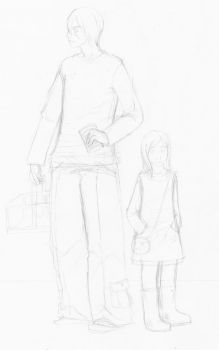 Ethan and Ambre shopping - WIP by Omniscient-Naratress