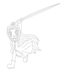 Sephiroth (Final Fantasy VII) lineart by MikariStar