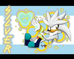 Silver the Hedgehog Wallpaper by AR-ameth