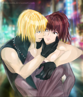 [Me and Mello] - You'll be mine by Hatake-Flor