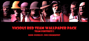 Wallpaper Pack: Red Team! by ZeFlyingMuppet