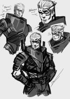 Human Garrus Doodle by S-Kinnaly