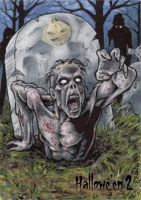 Hallowe'en 2 Sketch Card - Tony Perna 3 by Pernastudios