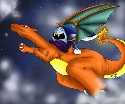 Charizard and Meta Knight by DalSifoDyas