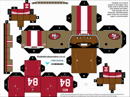 Randy Moss 49ers Cubee by etchings13