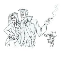 Zatanna and Constantine by Lana125