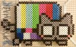 Tripped Out Nyan Cat by PerlerPixie