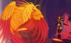 Aejora and the Phoenix by Zaebrael