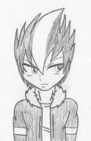 Sketch - Shadow the Hedgehog (Humanized) by RaijinSenshi