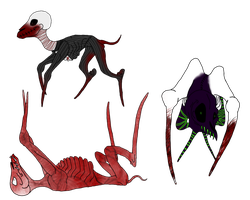 Creature Set 1 by angry-wolf-for-life