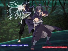 Collab: Itachi and Sasuke - The Power Uchiha by IITheDarkness94II