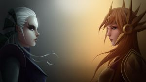 Diana and Leona Wallpaper by Zarory