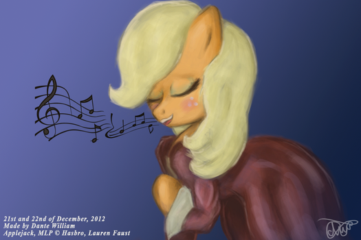 ''Four Art Days of Applejack'' - 03 - Singing by DanteIncognito
