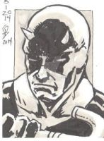 5/1/2014 Daily Sketch Card - Daredevil by tbeistel