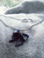 clay Bow Necklace by 97lessi