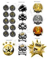 Achievement badges by VickiBeWicked