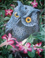 Owl in Desert Roses by FluffyNabs