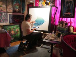 Just happy to be at my easel, painting. by ChristopherPollari