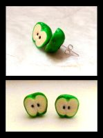 apple earrings by PAPIPI