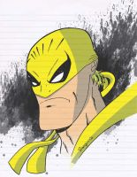 Iron Fist head sketch by Salvador-Raga