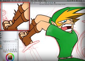 Wip Link Vs Chuchu 2 - Playing with vector layers. by carlospita