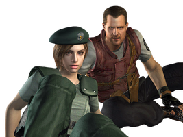Jill Valentine and Barry Burton-REmake PNG by Isobel-Theroux