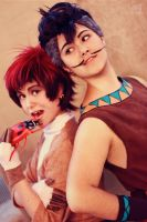 human Timon n Pumba by LauzLanille